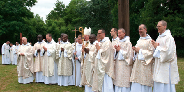 Ordinations diaconales et sacerdotales Frères de Saint-Jean 2018
