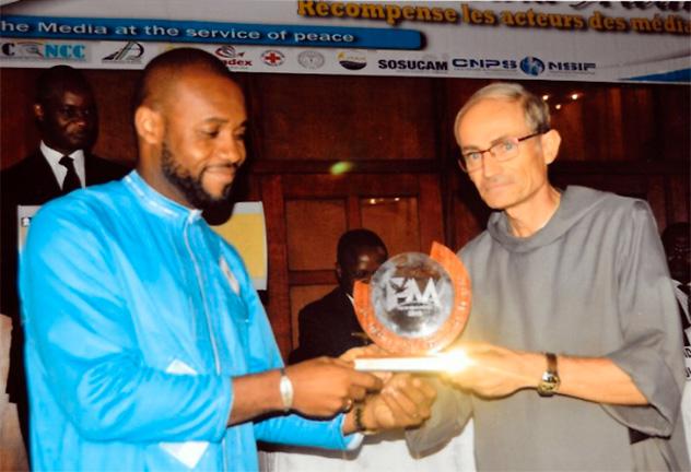 Yaoundé : frère Jean-Benoît lauréat d'un Peace Media Award