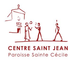 Logo Centre Saint-Jean, Paroisse Sainte Cécile, Boulogne-Billancourt