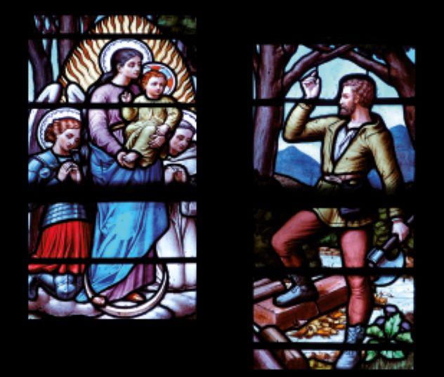vitrail sanctuaire Cotignac