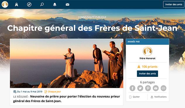 Neauvaine pendant le Chapitre général des Frères de Saint-Jean