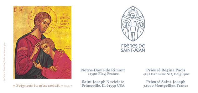 Faire-part des professions perpétuelles 2019 des Frères de Saint-Jean
