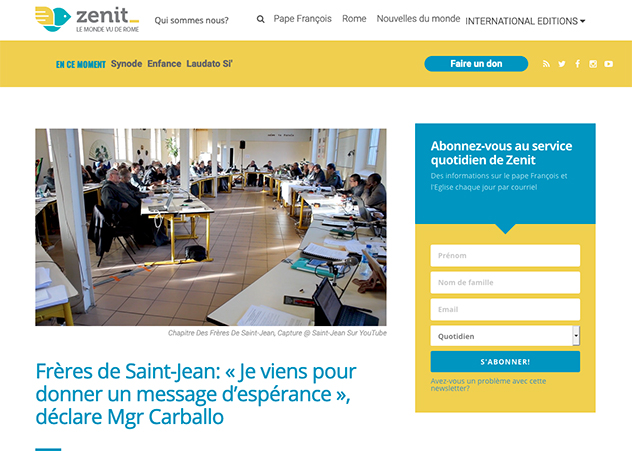 Capture du site Zenit, 5 novembre 2019