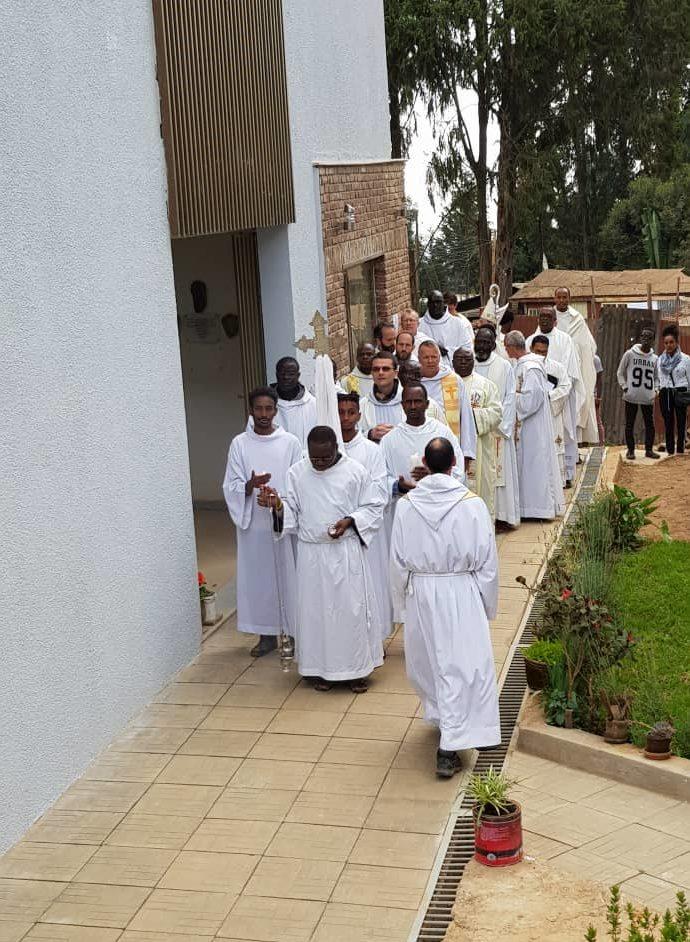 Festivités au prieuré dAddis Abeba en Ethiopie