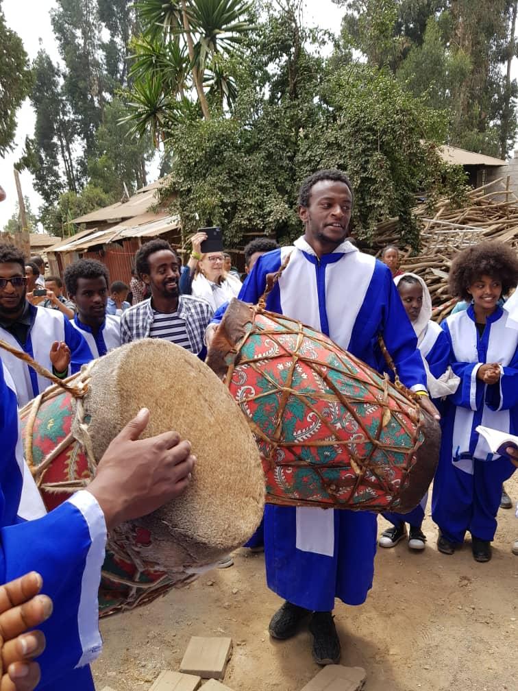 Festivités au prieuré d'Addis Abeba en Ethiopie